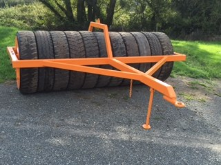 rubber tyre roller tractor attachment